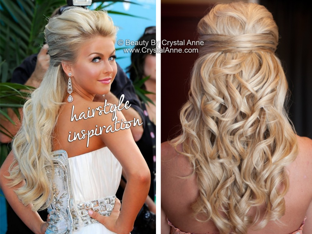 Julianne Hough Inspired Half Up Bridal Hairstyle Houston Hair