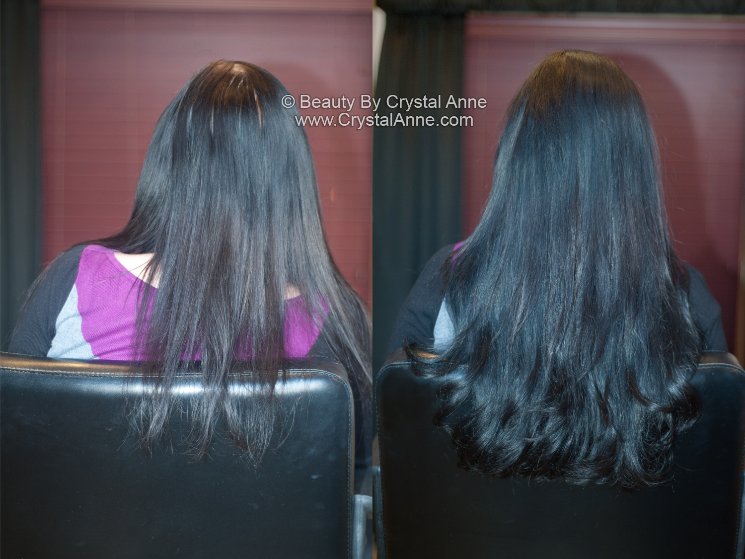 Adding Volume With Hair Extensions To Naturally Long Hair Houston