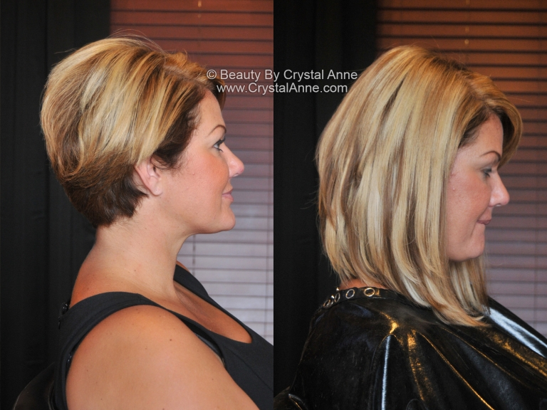 Long Angled Bob With Hair Extensions Houston Hair Extensions
