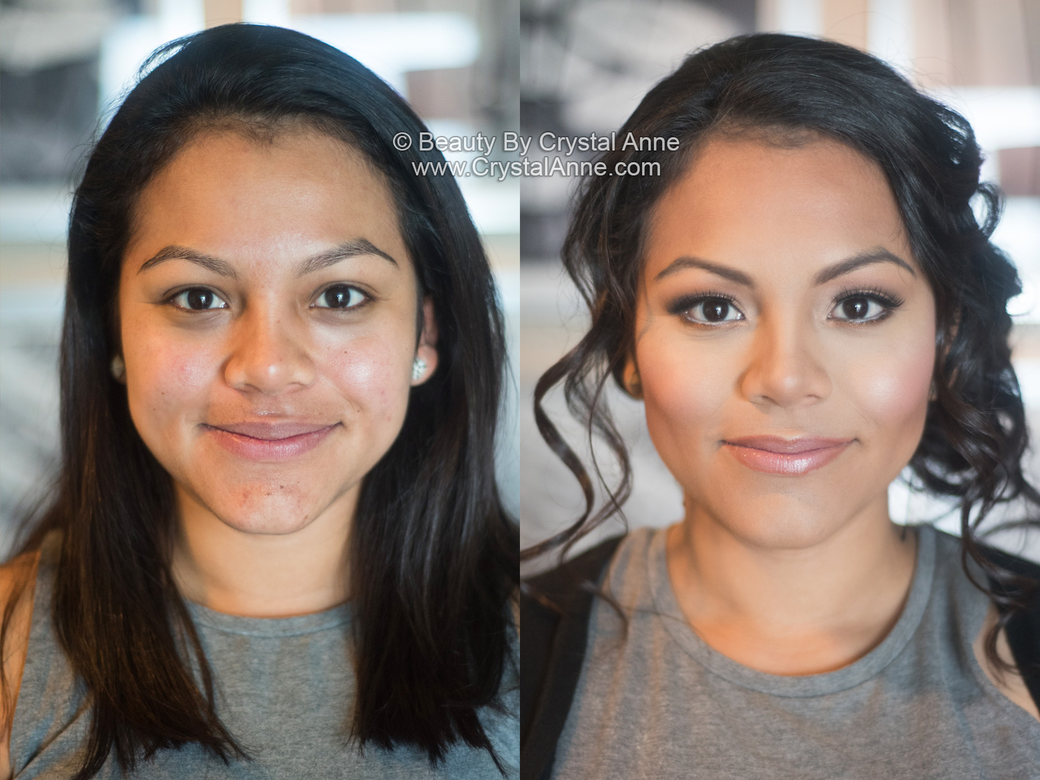 Dewy Airbrush Bridal Makeup Curly