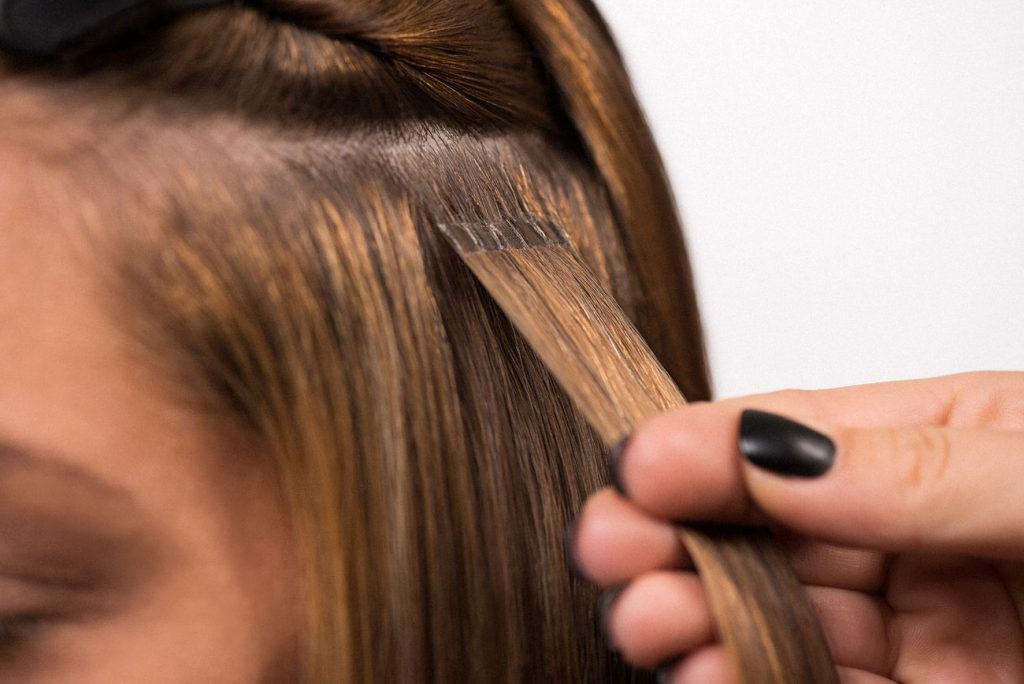 Hair Extension Application Process Using Hairdreams Hair Extensions