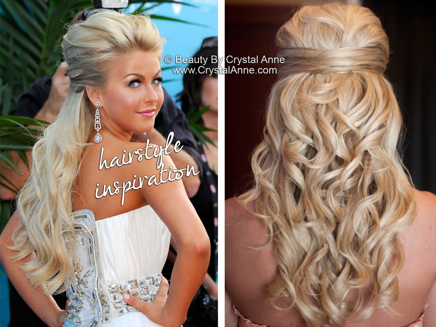 julianne hough inspired half up bridal hairstyle - houston hair