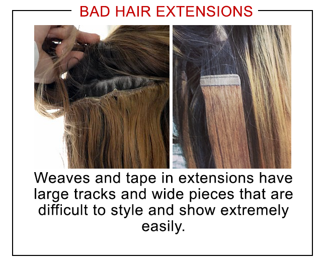 Tape extensions placement
